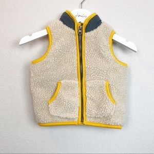 Old Navy Sherpa Fleece Jersey Lined Vest